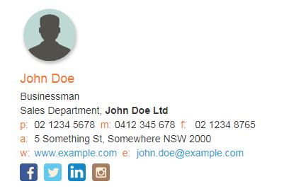 Email Signature Example.