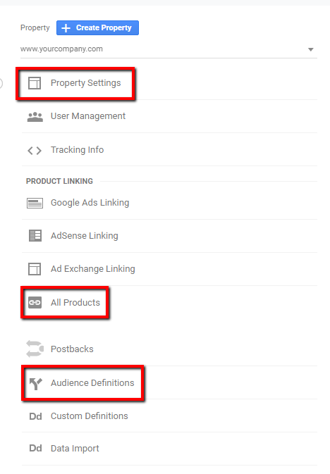 google analytics ui example.