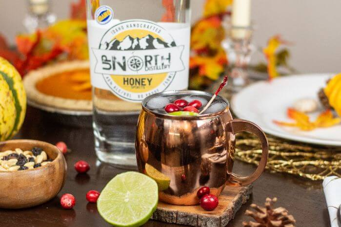 Cranberry Moscow Mule by Up North Distillery