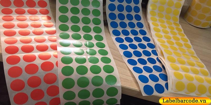 Tổng đại lý số 1 sản xuất và phân phối giấy decal in tem tròn tại Hà Nội