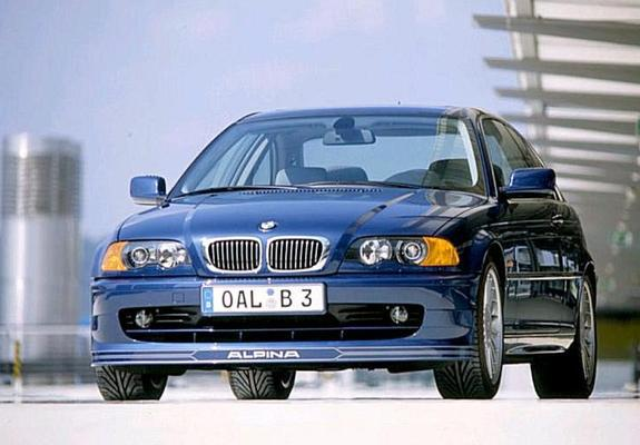 The Alpina B3 3.3 E46 had a wide opening in the front bumper, based on the pre-facelift M3-style coupe design.