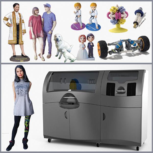 ProJet 660 Pro - CMYK full-color 3D printingเครื่องพิมพ์ 3 มิติ แบบหลายสี ที่ช่วยให้ผู้ออกแบบก่อสร้าง นักออกแบบผลิตภัณฑ์ (Product Designer) สามารถที่จะสร้างหุ่นจำลองมาตรวจสอบงานได้เสมือนจริง ลดเวลาและประหยัด การที่ต้องไปแก้ไขในหน้างานลง หรือนำเสนองานลูกค้าแบบง่ายๆ ให้ลูกค้าประทับใจ ทำชิ้นงานศิลปะ/ของขวัญ และอื่นๆ มากมาย