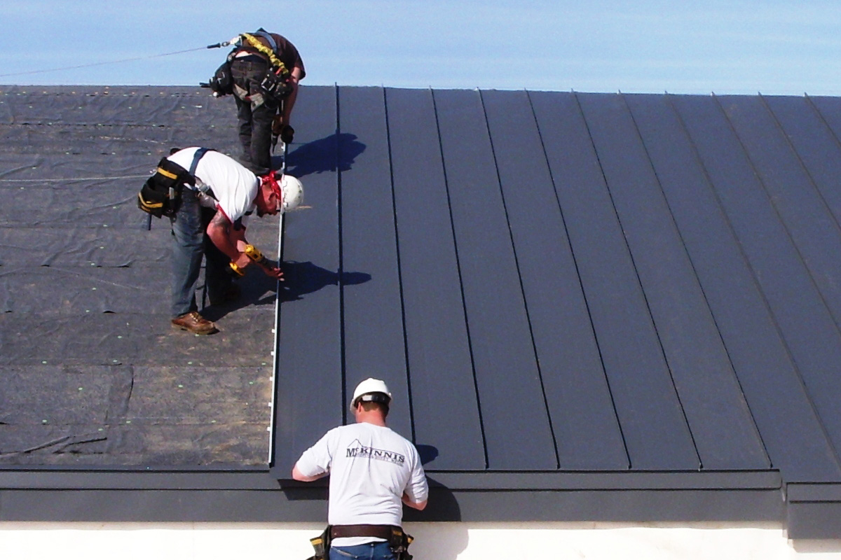 Standing seam metal roof instillation
