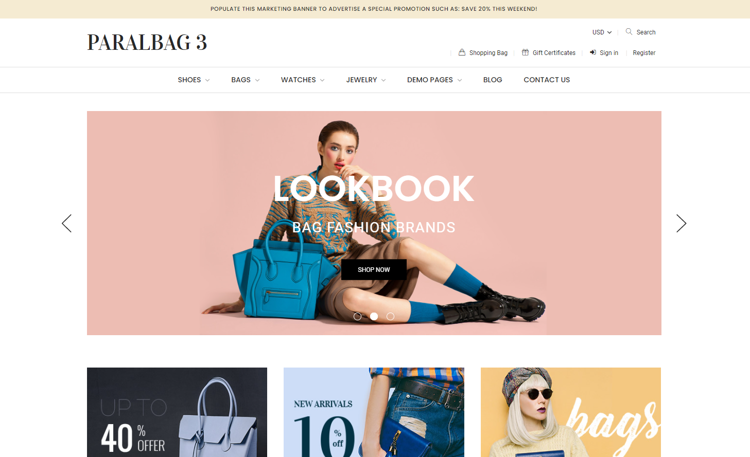 paral bag Best Themes for BigCommerce
