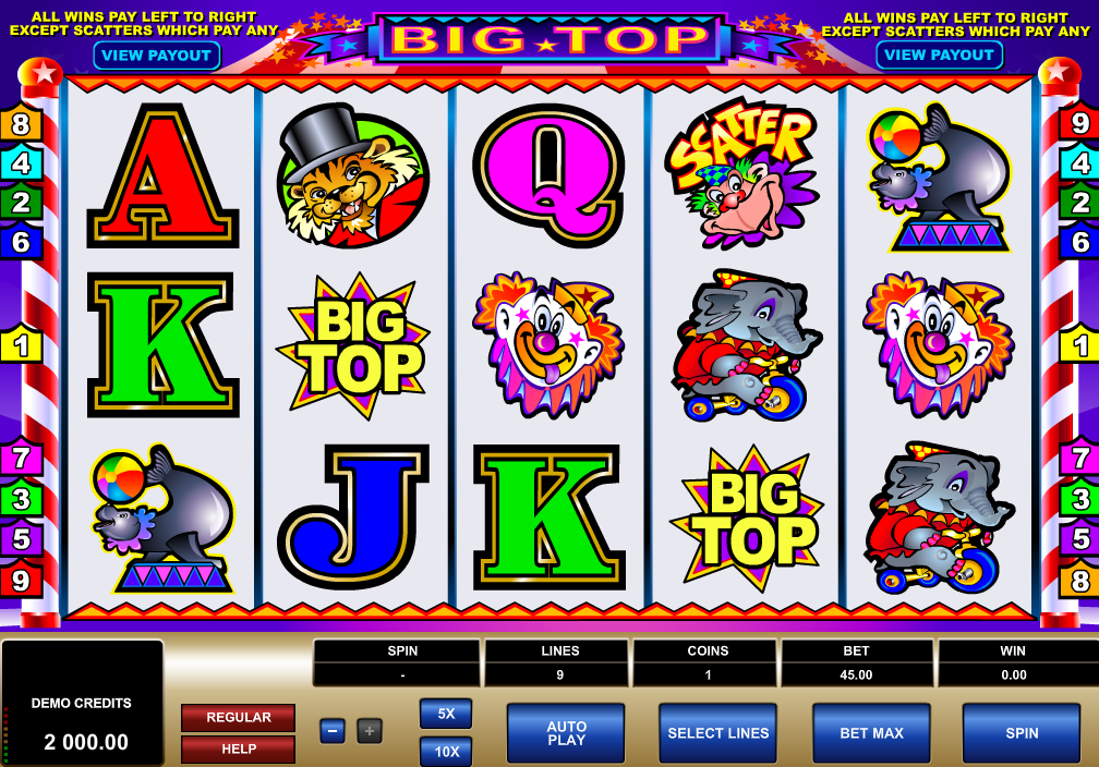 Big Top Slots Game Review