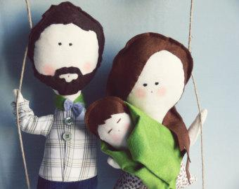 Custom Family Stuffed Characters