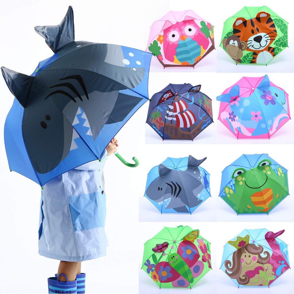 Cable Organizers Along With 3D Cartoon Kids Umbrella