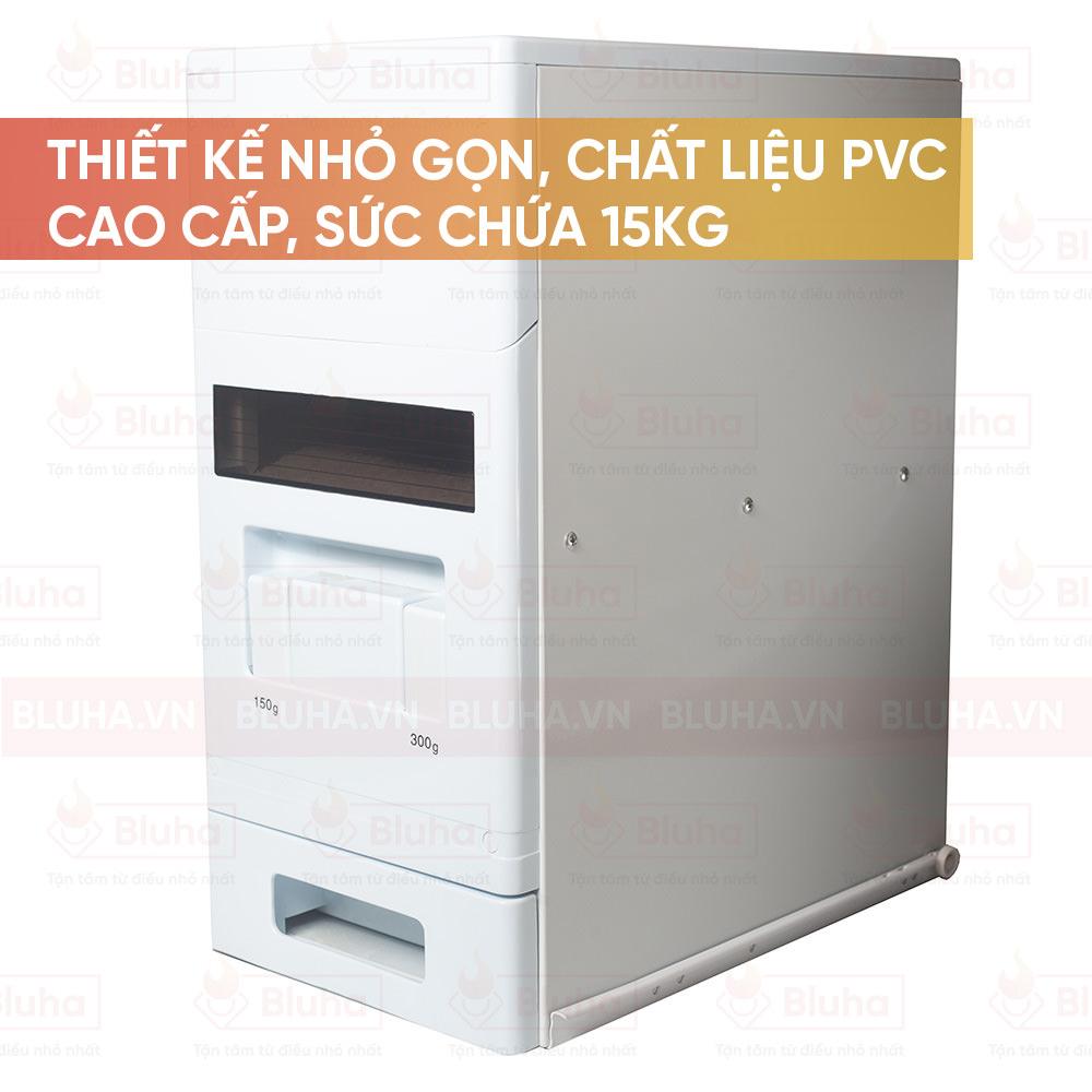 Thiết kế nhỏ gọn, chất liệu PVC cao cấp, sức chứa 15kg - Thùng gạo Garis - Phụ kiện bếp chính hãng