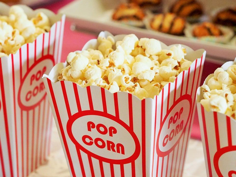 Popcorn, Movies, Cinema, Entertainment, Food, Corn