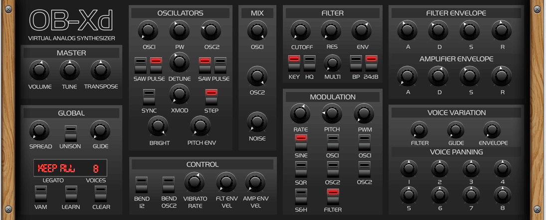 OB-Xd free VST synth