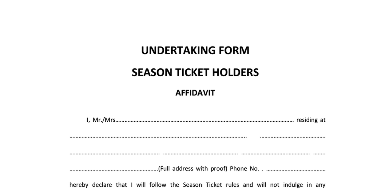 Train Season Ticket Undertaking Form Pdf Google Drive