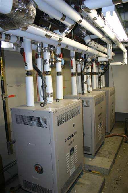 Монтаж, установка газового теплового насоса ROBUR, для отопления дома под ключ.