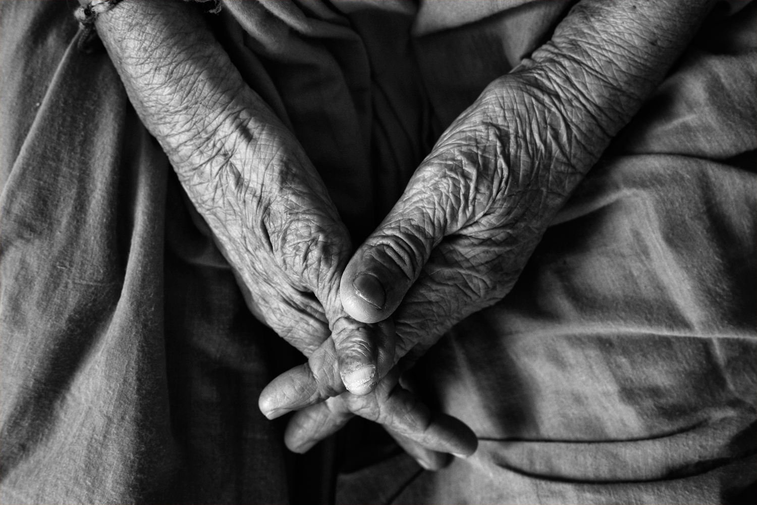 caring for elderly parents at home - old person's hands