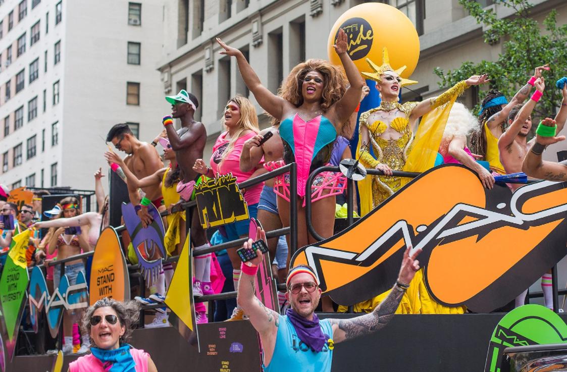 M.A.C pride parade