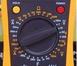 Các ký hiệu trên chiếc đồng hồ vạn năng điện tử