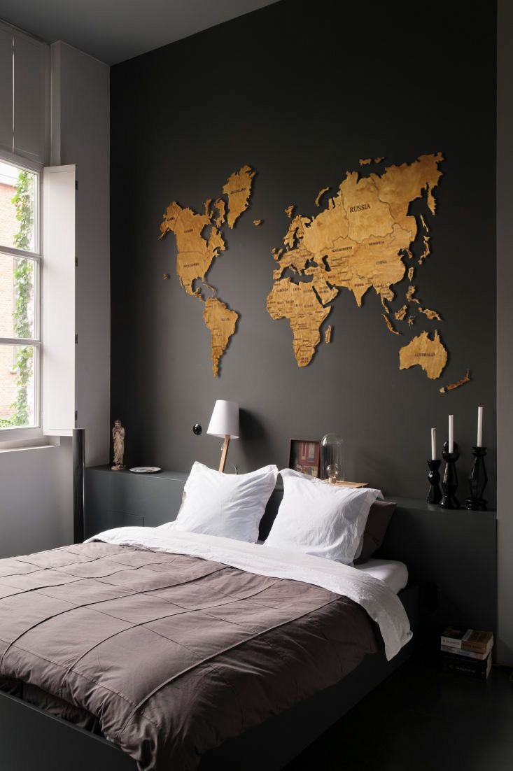 Display a Personalized Map on a Huge Wall large wall decor ideas
