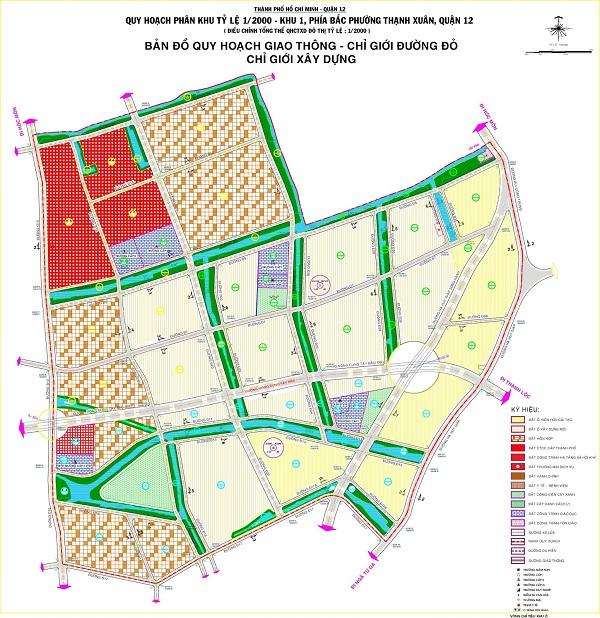 Cập nhật bản đồ quy hoạch phường Thạnh Xuân quận 12 mới nhất