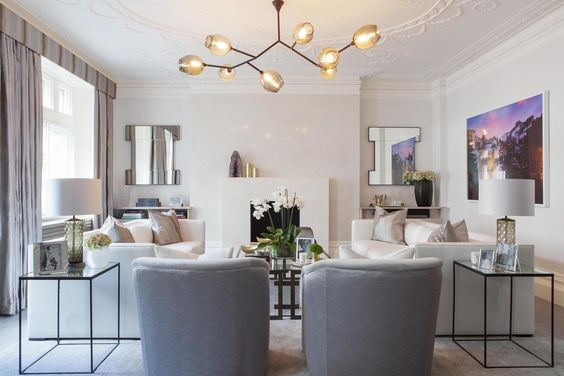 2019 spring design trends in Calgary interior design: branching light fixtures