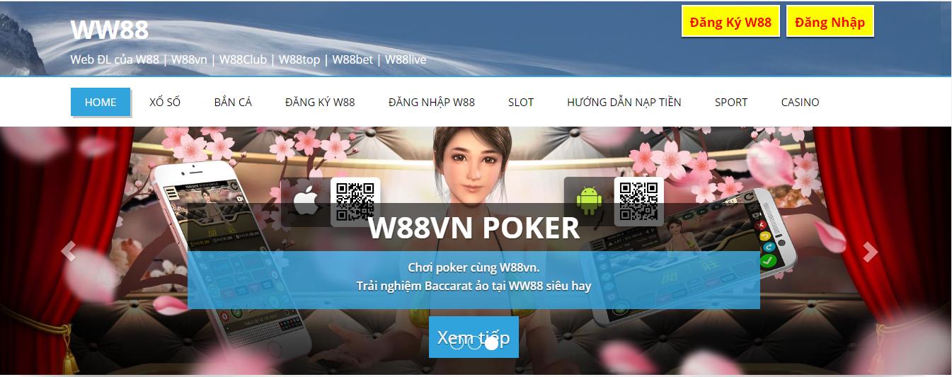 giao diện chính thức của ww88