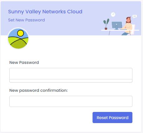 Resetting Cloud Portal Password