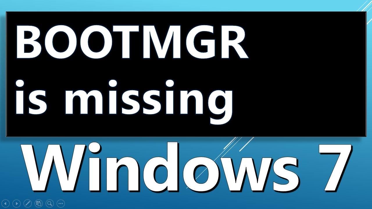 BOOTMGR is Missing error
