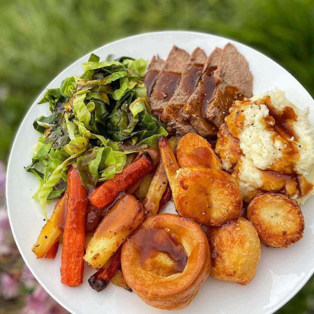 potatoes and veggies