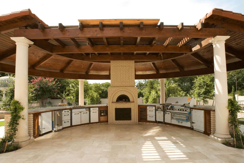 gazebo as garden seating area idea