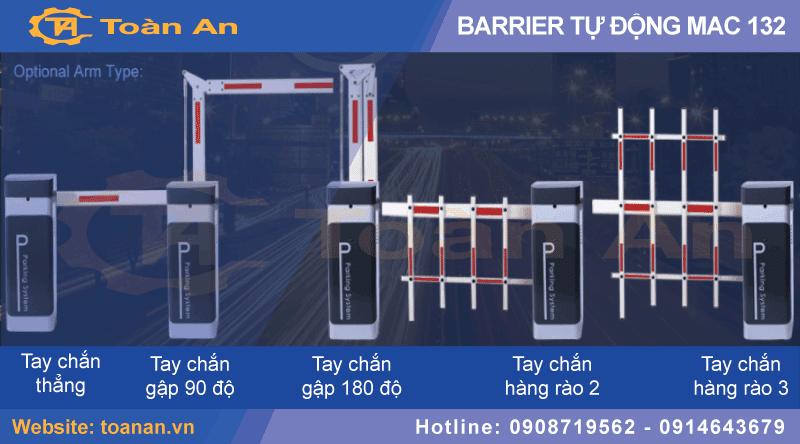 Các kiểu thanh chắn của barrier tự động mac 132