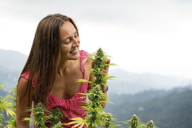 Woman, Smile, Marijuana, Hemp, Cannabis, Plant, Happy