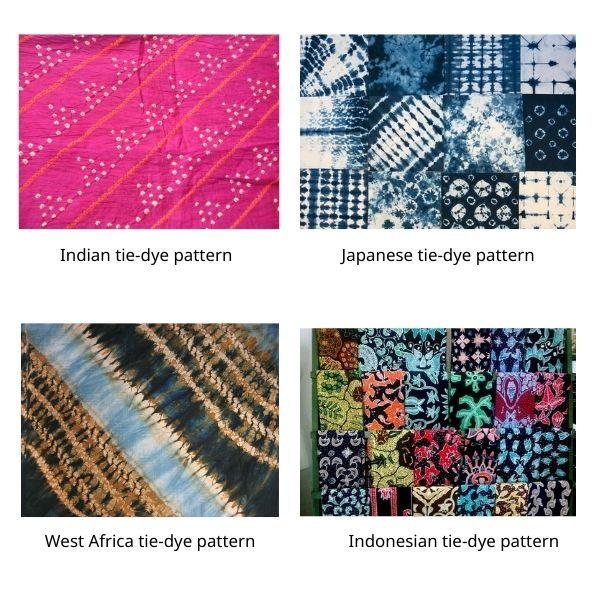 Tie-dye trend pattern inspired