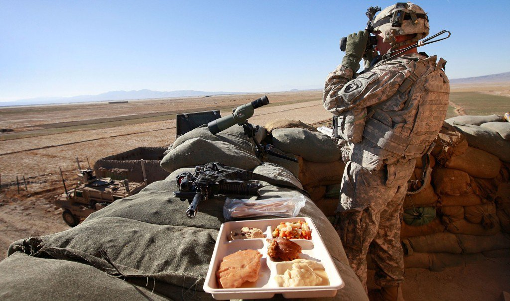 An Army soldier keeps watch on Thanksgiving Day in Afghanistan's Paktika province.