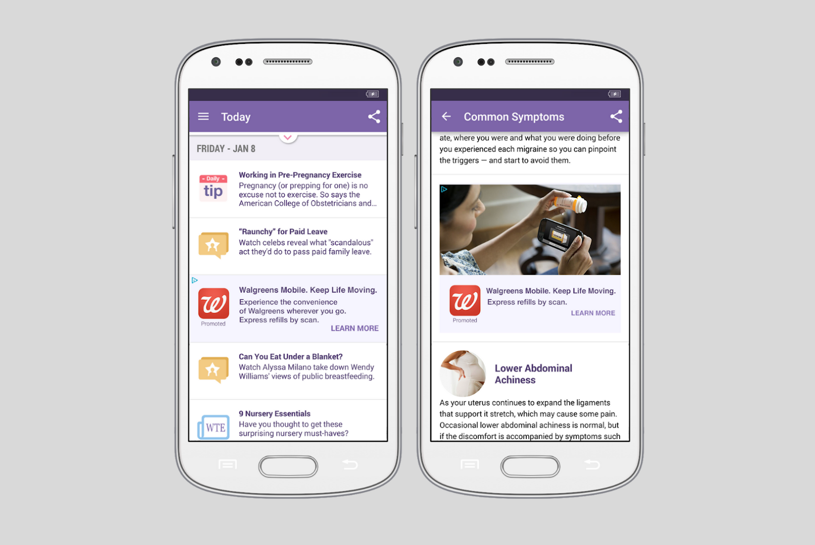 Mobile app Native ads