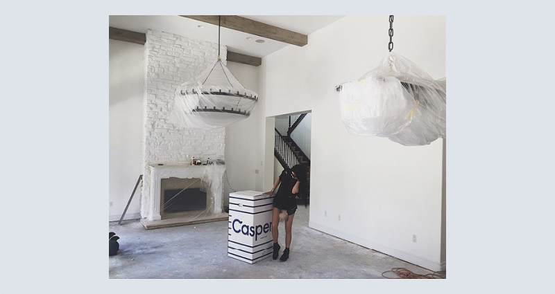 Image by kyliejenner for Casper Mattresses campaign