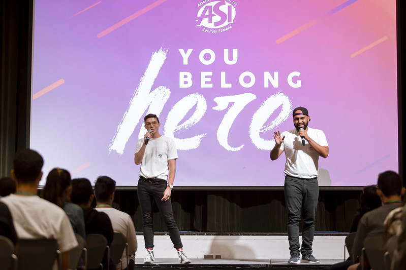 students performing to incoming students during Orientation