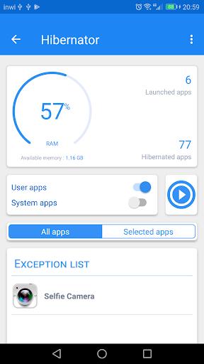 Hibernator -  Hibernate apps & Save battery- screenshot thumbnail