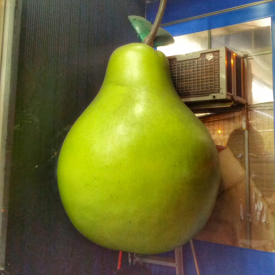 People say New York is a big apple. It is completely wrong. It is a big Pear. This one I found in downtown of NY not a long time ago.