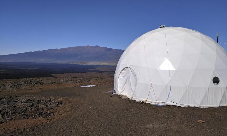 Khu vực cư trú của nhóm phi hành đoàn tại Hawaii.