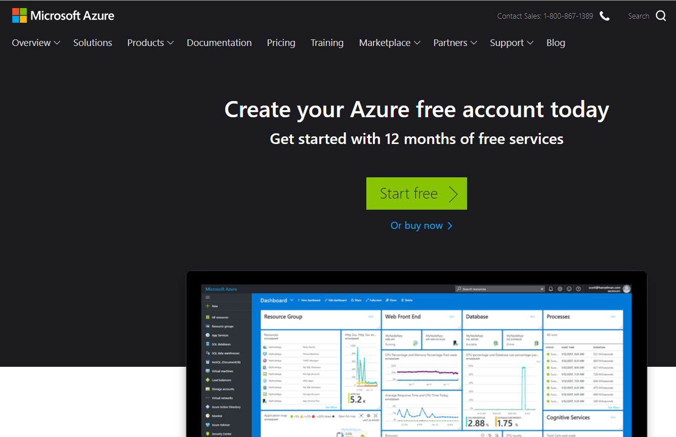 Azure Page