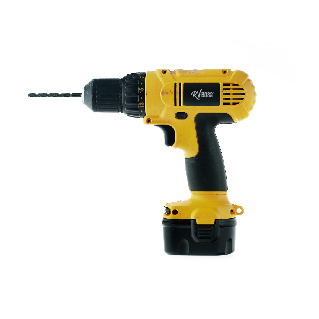 yellow and black cordless drill
