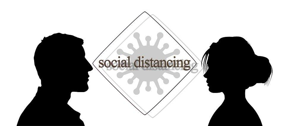 Silouttes shown social distancing