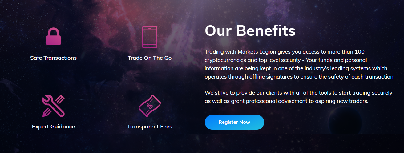 Markets Legion trading benefits