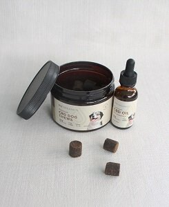 Joy Organics pet chews and oil