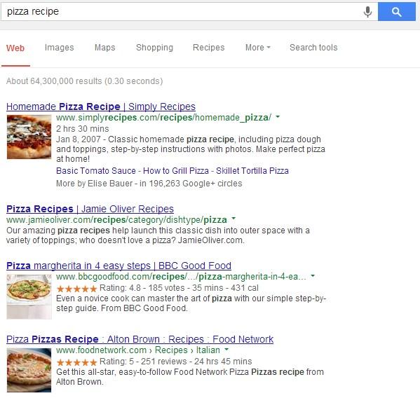 Структурированные сниппеты на страницах результатов поисковых систем