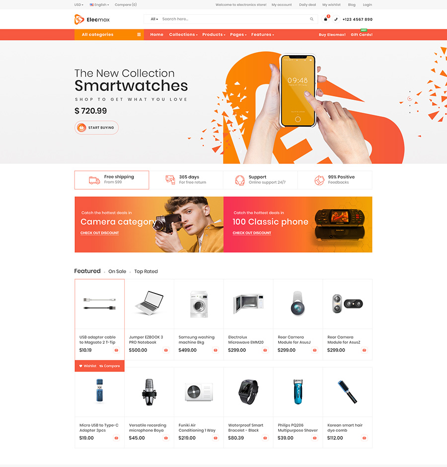 Digital products magento theme Gemmart