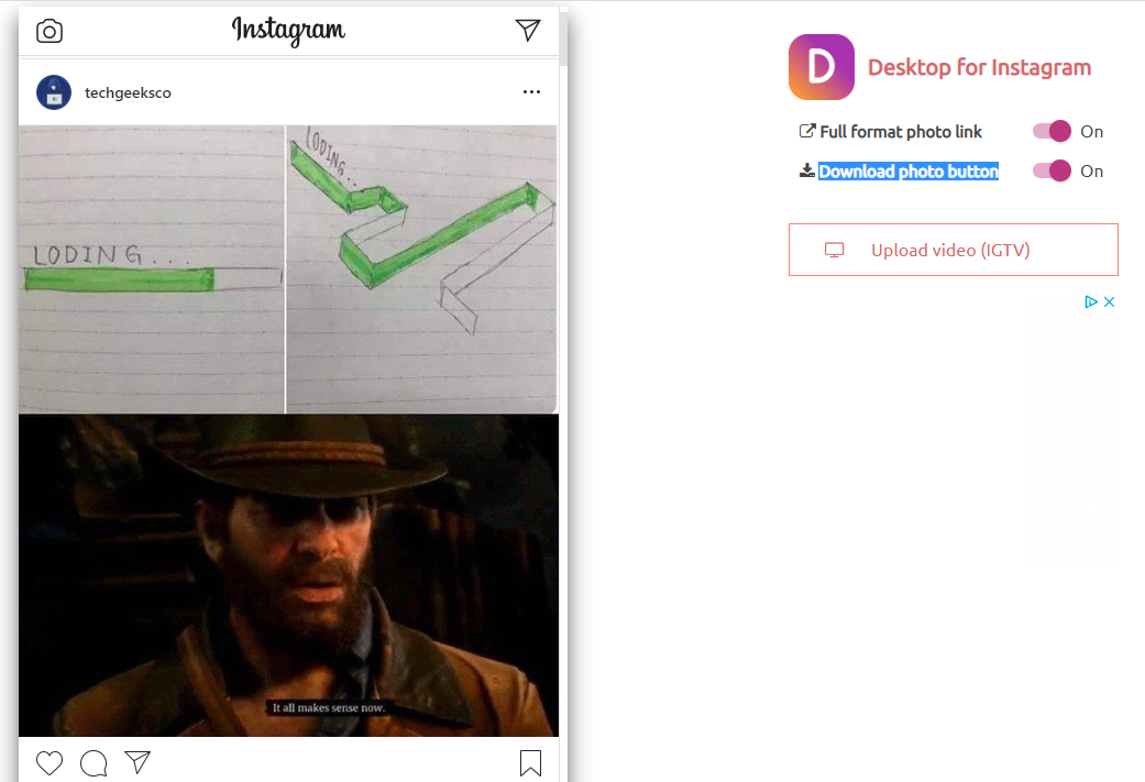 publier sur Instagram depuis PC
