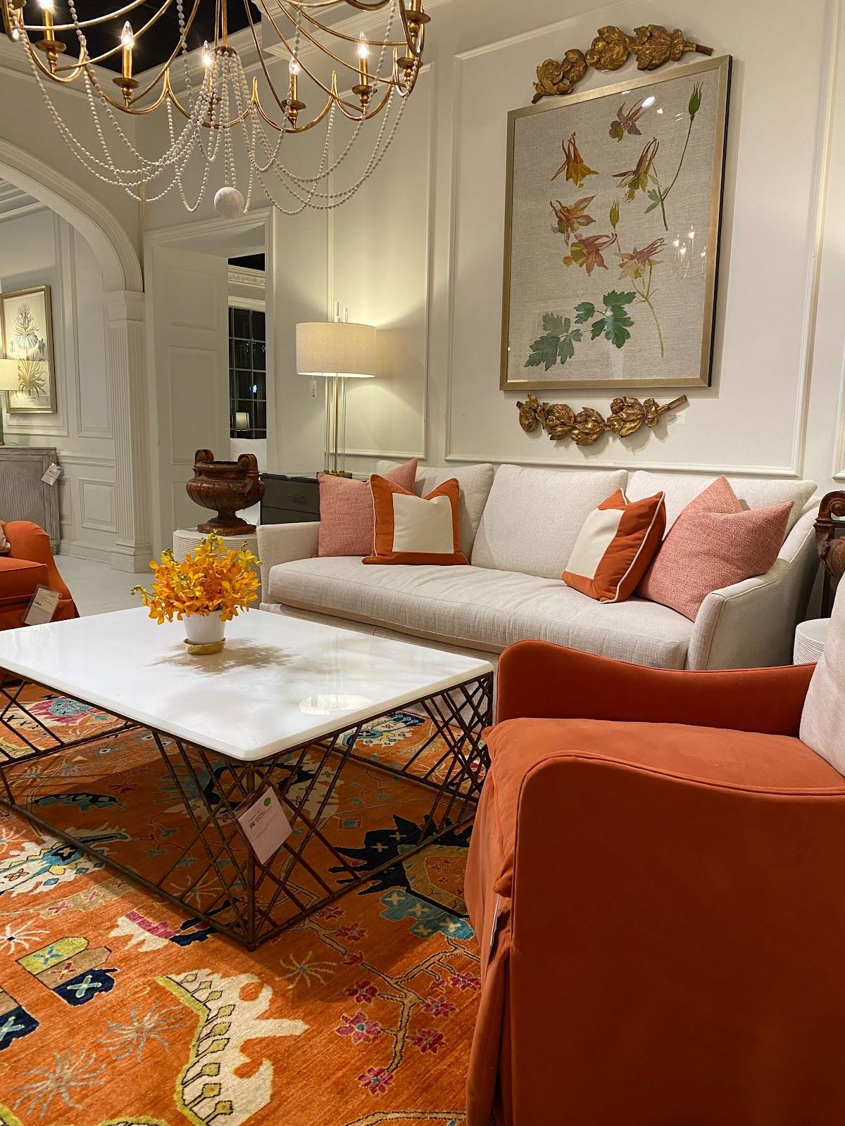 latest trends in interior design 2021 home decor warm colors orange