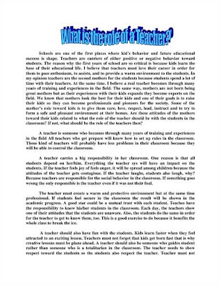 Thesis Statement In Essay  Essay On Health Awareness also Apa Sample Essay Paper My Best Teacher Essay In English For Th Class Where Is A Thesis Statement In An Essay