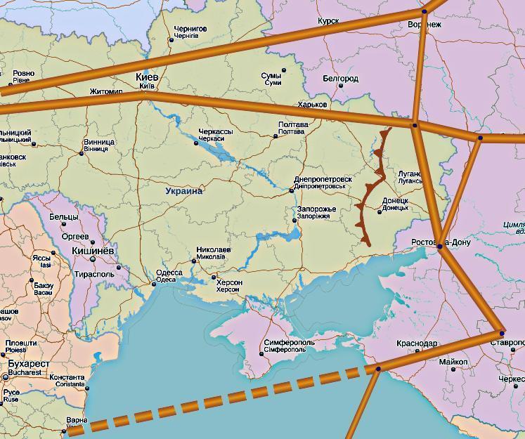 Объем транзита из России в