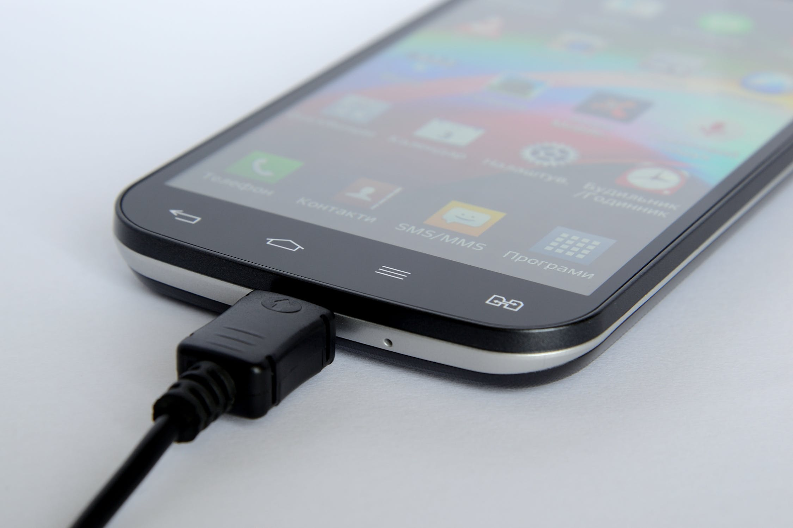 Android smartphone charging