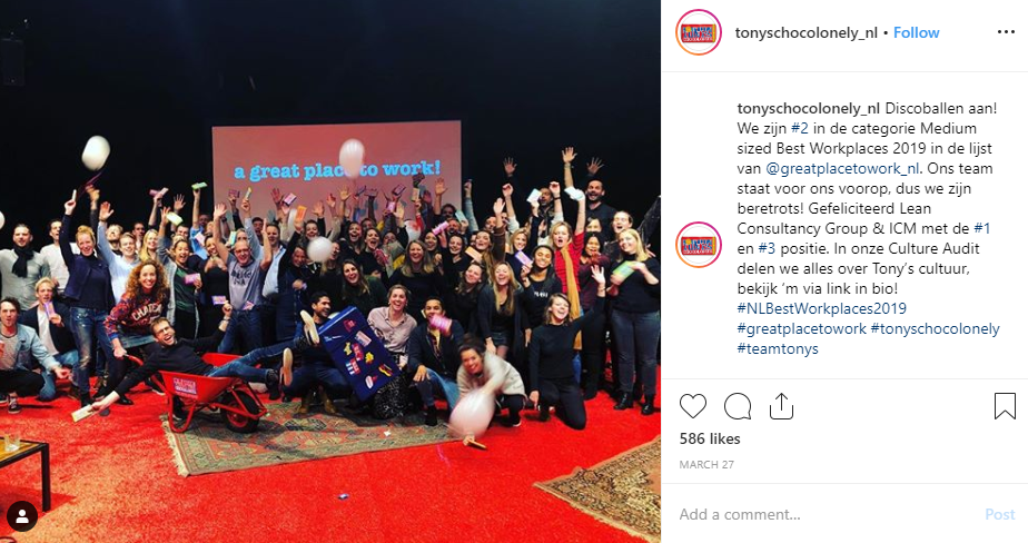 tonys chocolonely nl instagram recruiting